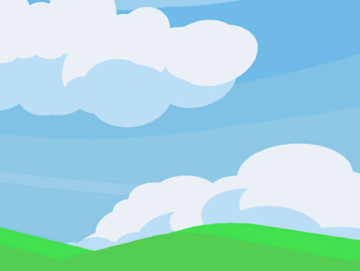 Cartoon Grass Hill Skybox