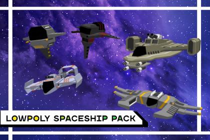 LowpolySpaceshipPack
