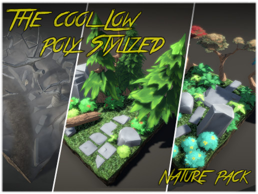 The Cool Low poly Stylized Nature pack