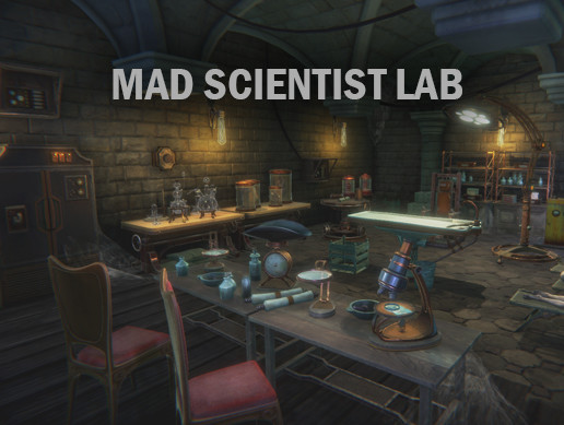 Mad scientist lab props pack