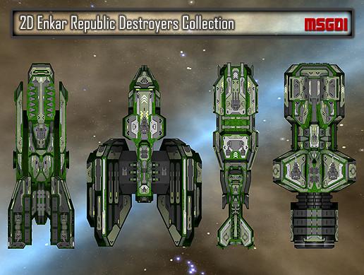 2D Enkar Republic Destroyers Collection