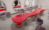 Beauty salon - interior and props