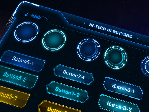 Hi-Tech Buttons and Panels Pack