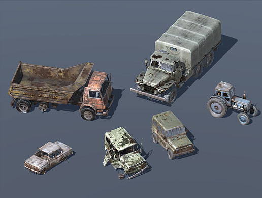 Crashed Soviet Vehicles (6 in 1)