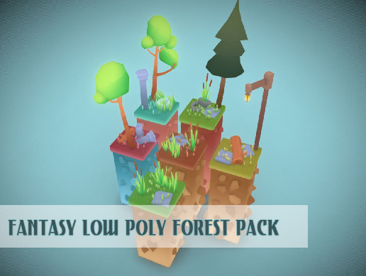 Fairwood (fantasy low poly forest pack)