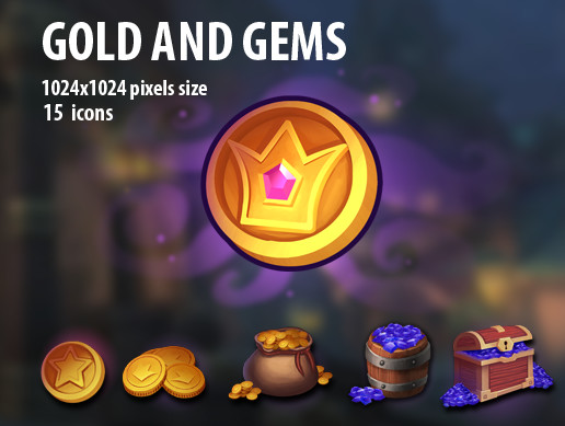 Gold and Gems Icons