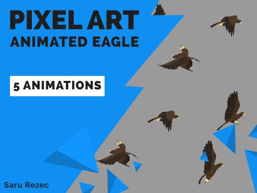 Pixel Art: Animated Eagle
