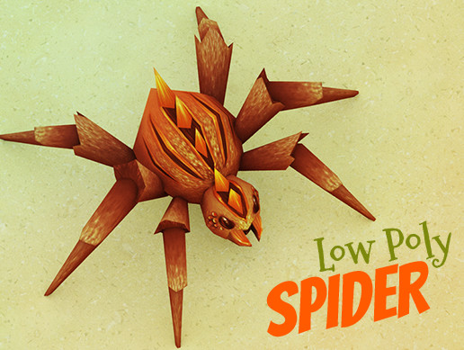 Animated low poly spider