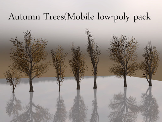 Autumn Trees(Mobile low-poly pack )