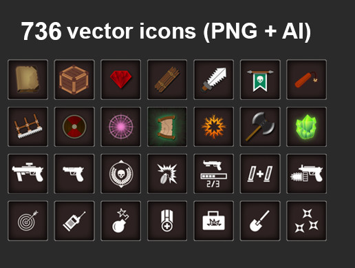 GUI Icons Pack (736)