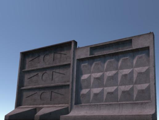 Modular self-stand concrete fences