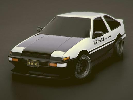 Low-poly Sports car #13