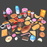 Cartoon Food Pack Vol. 3