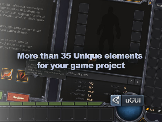 RPG & MMO UI 2 for UGUI - Asset Store