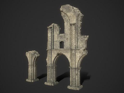 Ancient Temple Ruins PBR