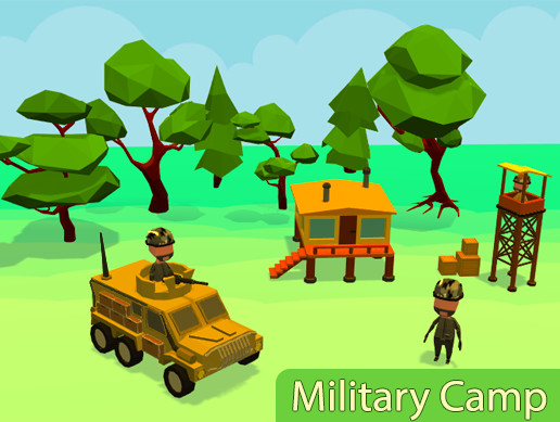 Low poly Military Camp