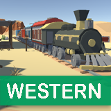 Cartoon Western City - Low Poly Assets