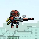 Robot Shooting Game Sprite (Free)