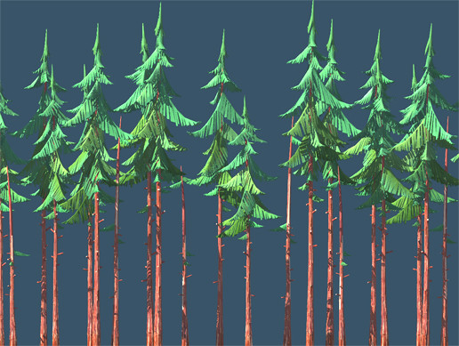 Forest Spruce Lowpoly Full Destructible