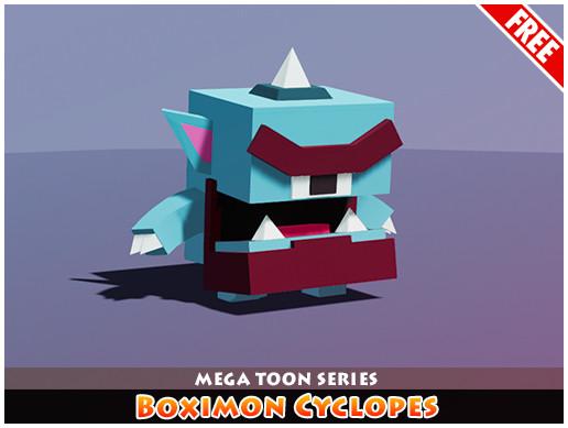Meshtint Free Boximon Cyclopes Mega Toon Series