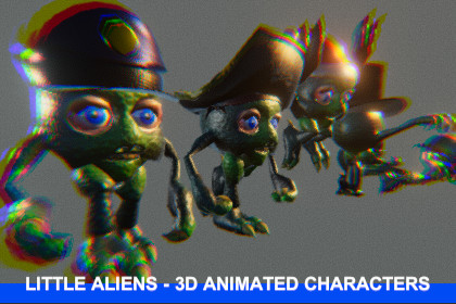 LITTLE ALIENS - 3D ANIMATED CHARACTERS