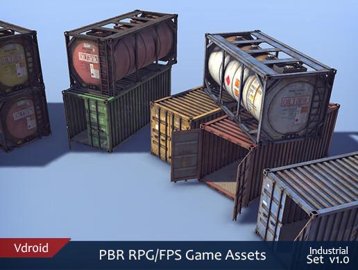 PBR RPG/FPS Game Assets (Industrial Set v1.0)