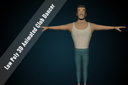 Low Poly 3D Animated Club Dancer