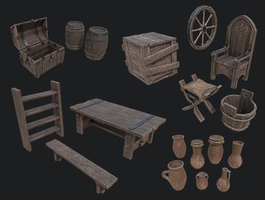 Medieval Props Package
