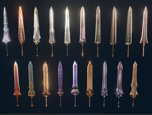 Two Handed PBR Sword Pack