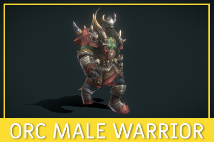 Orc Male Warrior [Fantasy]