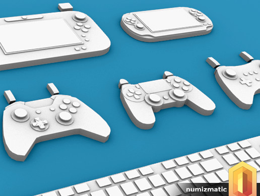 Low Poly 3D Controllers