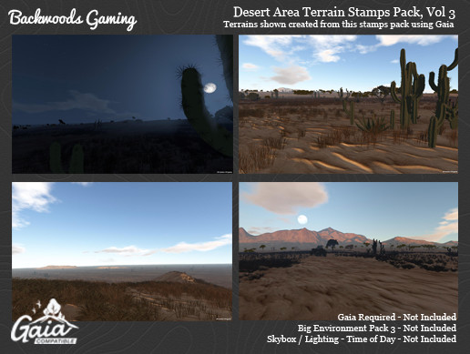 Gaia Stamps Pack Vol 03 - Desert Area
