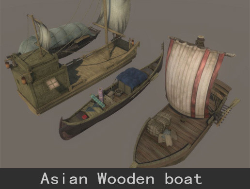 Wooden boat collection