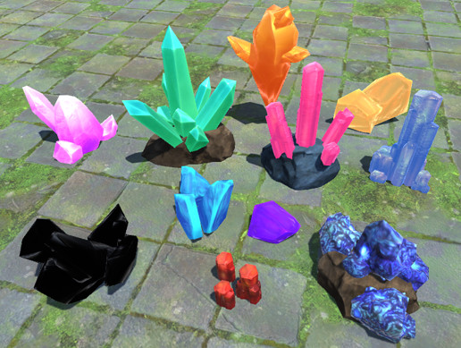 Toon Crystals Pack - Asset Store