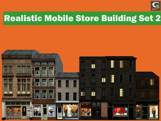 Realistic Mobile Store Building Set 2