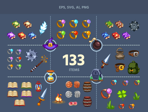 Fantasy Game Items