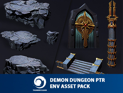 Demon Dungeon PBR Asset Pack - Full package Unity and FBX