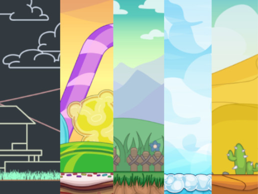 Assorted Themes Seamless Parallax 2D Backgrounds