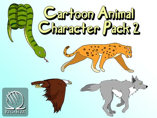 Cartoon Animal Character Pack 2
