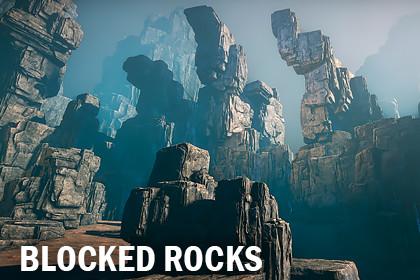 Blocked rocks