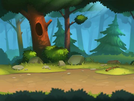 Dynamic Fantasy Backgrounds: Light Forest