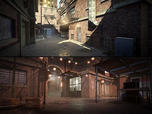 پکیج محیط سه بعدی یونیتی Modular City Alley Pack