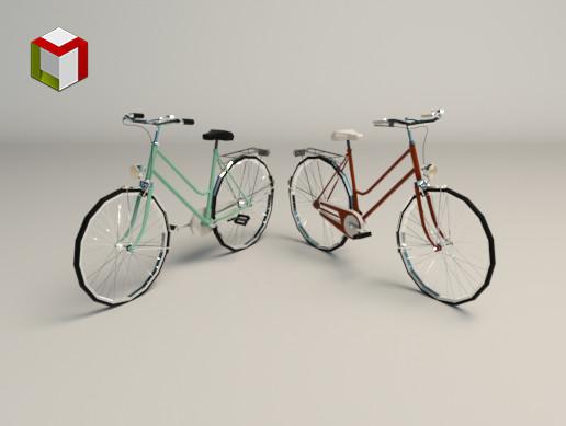 Low Poly Ladies Bike