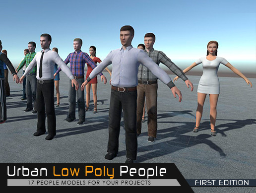 Urban Low Poly People