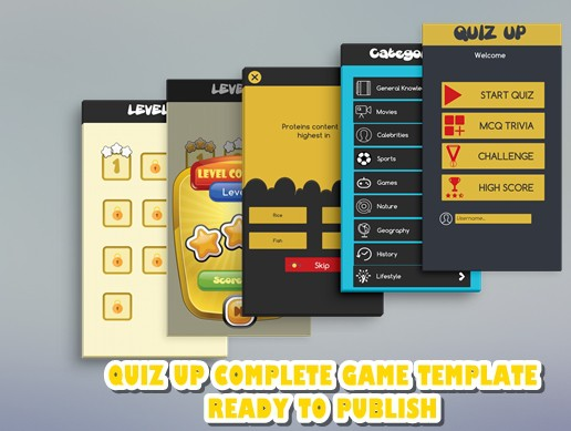 Quizup Trivia Based Complete Template For Unity