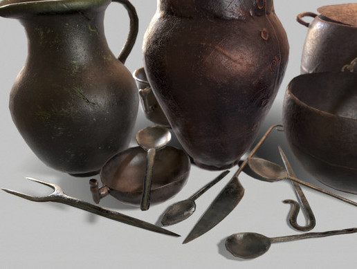 Medieval Dishes Pack Part 4