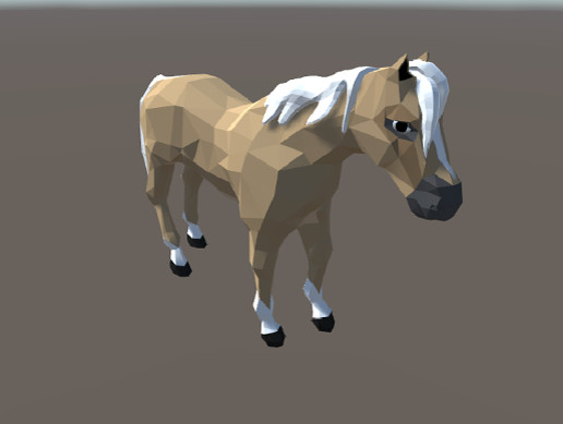 Stylized Low Poly Animated Horse