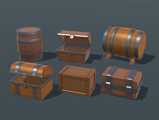 Barrels Boxes Chests