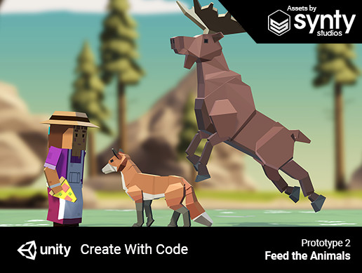 Create with Code | Prototype 2 - Feed the Animals