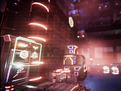 Cyber Punk VHS neon factory